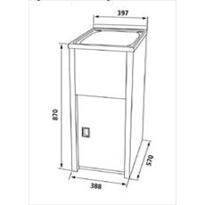 Genial STCLN M: 30 Litre Stainless Steel Laundry Tub And Colorbond Cabinet (Narrow)